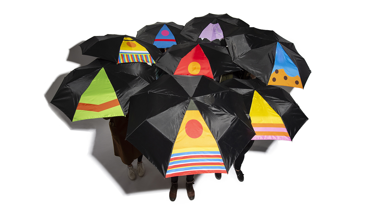 Sesame Street-inspired umbrellas