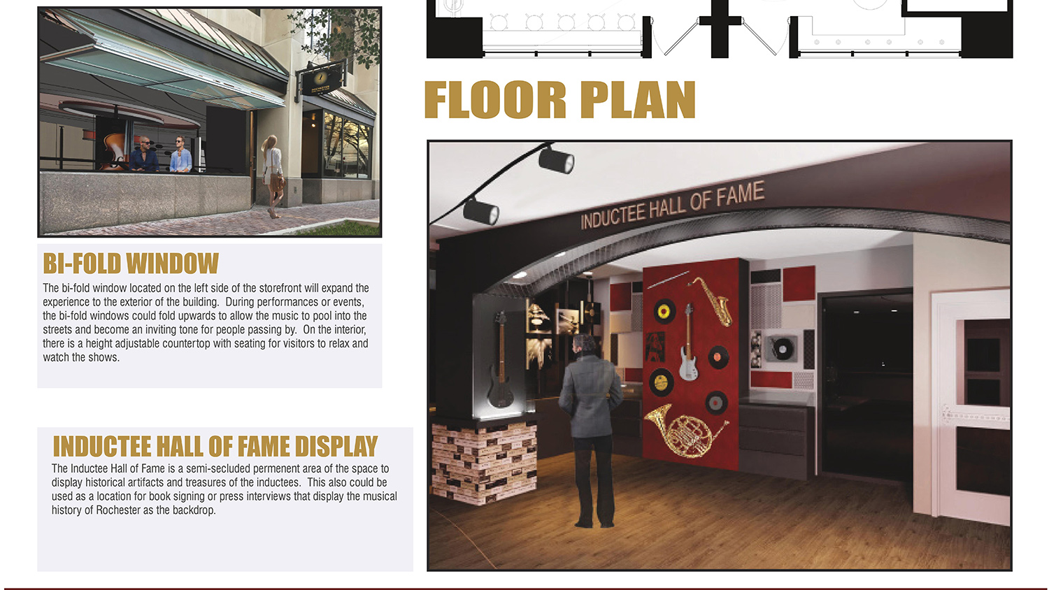 Student design of the Rochester Music Hall of Fame