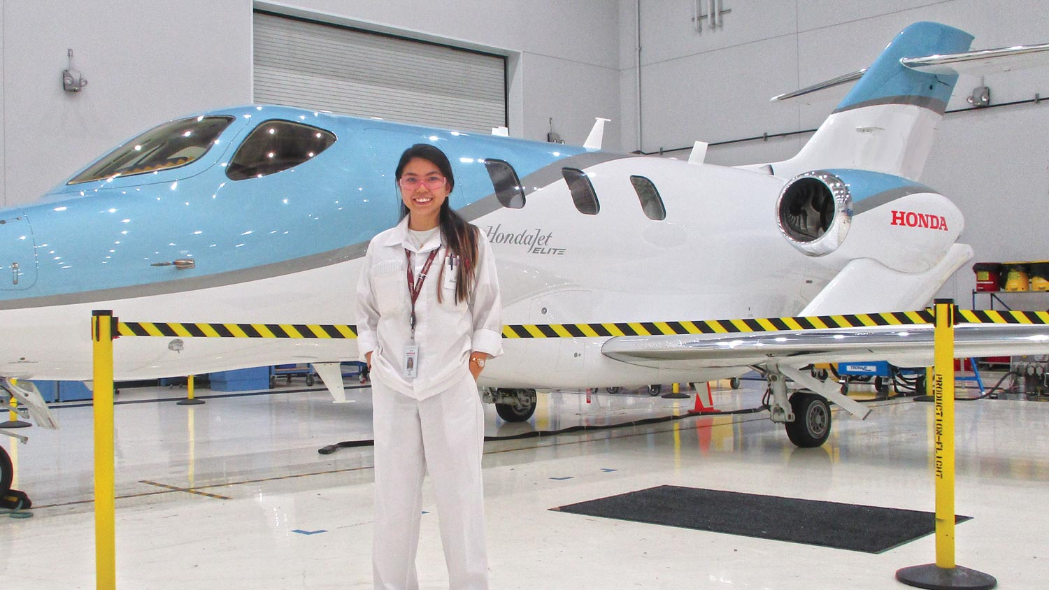 Allison Fink, amanufacturing engineering technology major, completed a co-opat Honda Aircraft Co. as a manufacturing engineering and production support intern.
