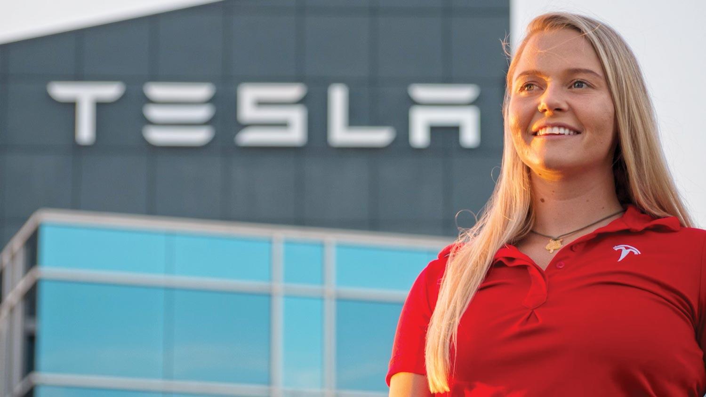 Kristina Klishko, a mechanical engineering major, shares her co-op experience at Tesla.