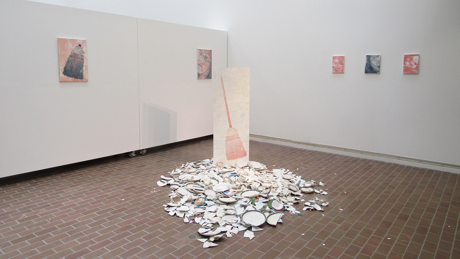 A gallery view of prints on paper and wood.