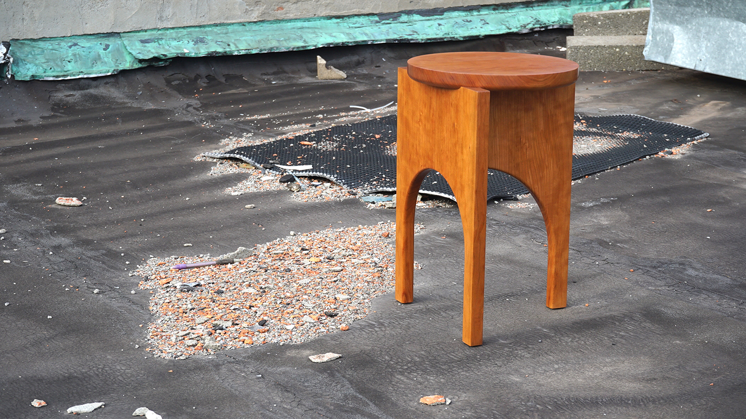 A finely crafted stool that represents minimalism of form, material and production processes.