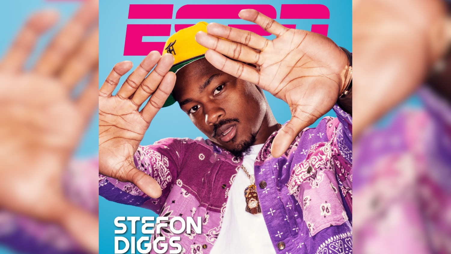 An ESPN cover with a photo of Stefon Diggs by Clay Patrick McBride.