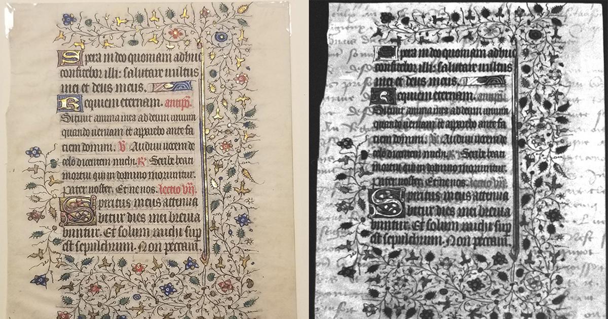 15th-century manuscript leaf