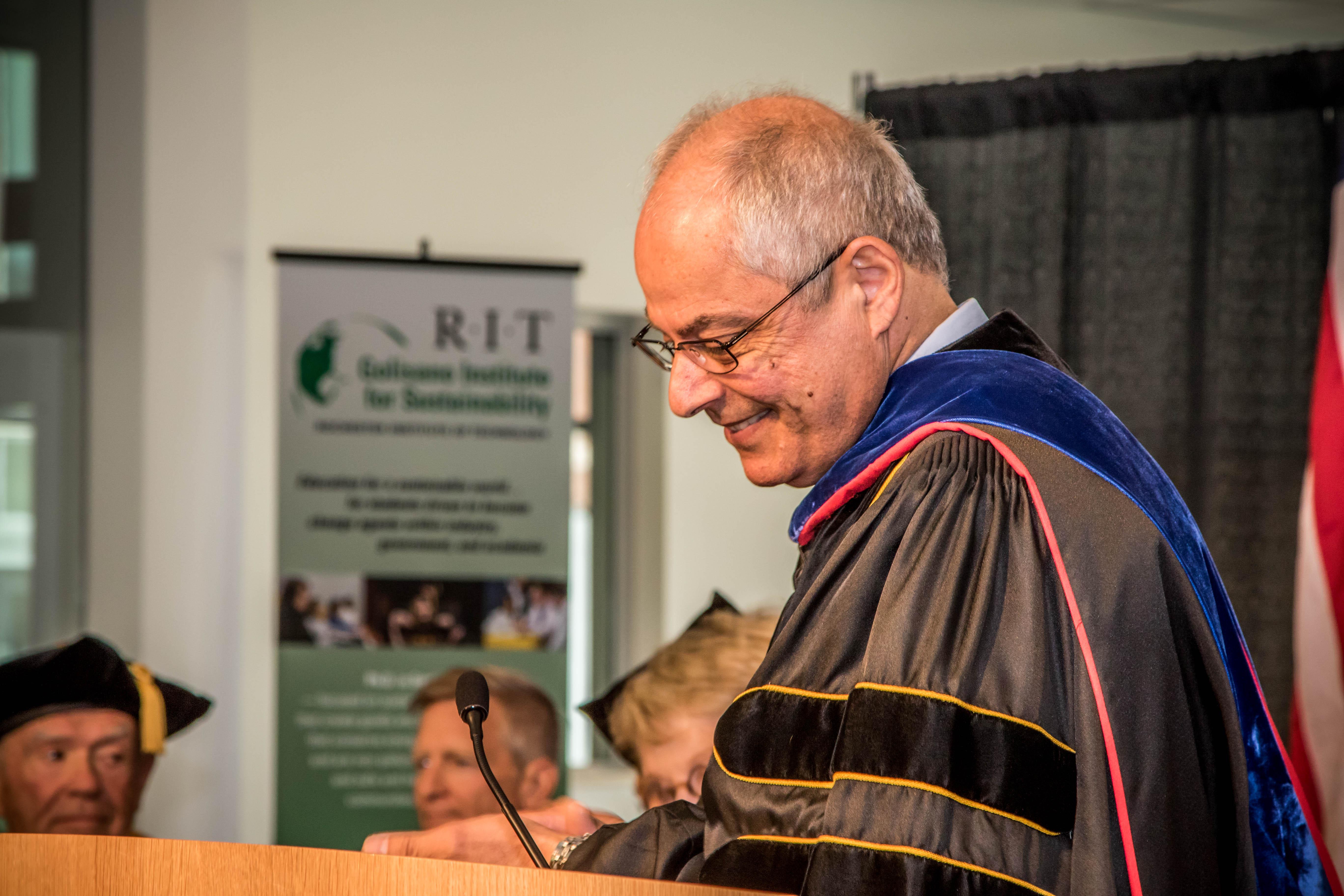 Dr Nabil Nasr speaking at graduation ceremony